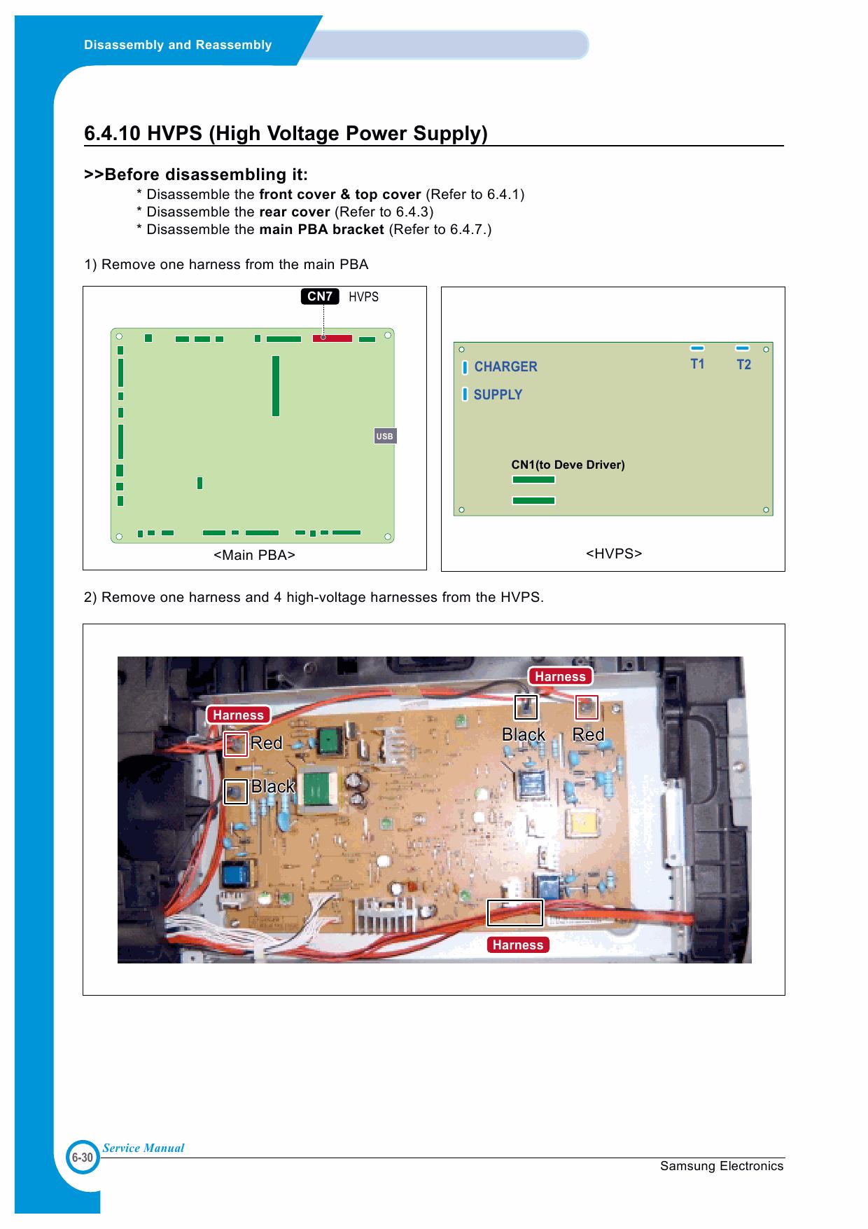 samsung clp 510 series clp 510 clp 510n color laser printer service repair manual